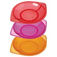 Lot de 3 assiettes colors