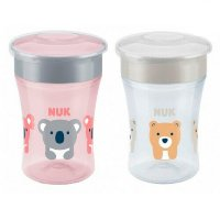Lot de 2 tasses magic cup fille