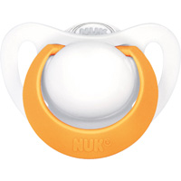 Sucette silicone genius taille 3 orange