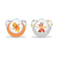 Lot de 2 sucettes silicone taille 1 winnie