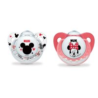 Lot de 2 sucettes silicone taille 2 mickey et minnie