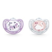 Lot de 2 sucettes silicone freestyle taille 1 fille