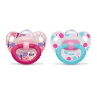 Lot de 2 sucettes silicone classic taille 2 fille