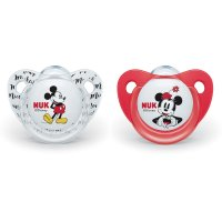 Lot de 2 sucettes silicone taille 2 minnie