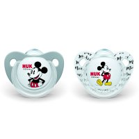 Lot de 2 sucettes silicone taille 2 mickey