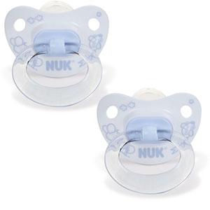 Lot de 2 sucettes bébé silicone taille 2 bleu