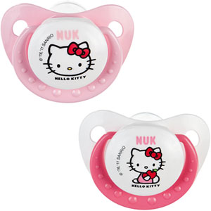 Lot de 2 sucettes bébé silicone hello kitty t3