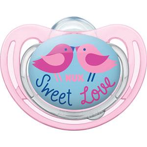 Sucette bébé silicone taille 3 freestyle oiseaux fille