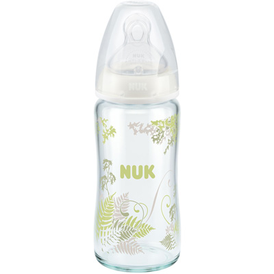 Biberon verre tétine silicone 240ml Nuk