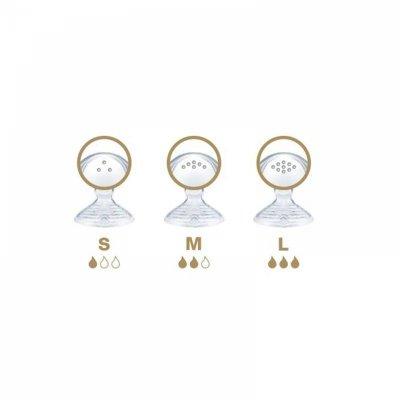 Lot de 2 tétines silicone nature sense taille 2 lait épaissi Nuk
