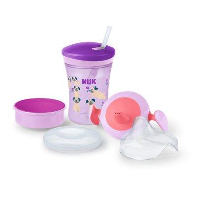 Set d'apprentissage 1 tasse + embouts fille 6 mois et plus Nuk