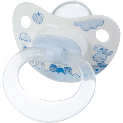 Nuk Lot de 2 sucettes bébé silicone taille 2 bleu 1