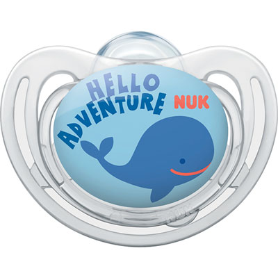 Sucette silicone taille1 freestyle baleine garçon Nuk