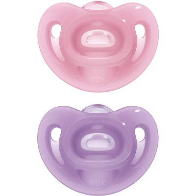 Lot de 2 sucettes sensitive 0-6 mois fille Nuk