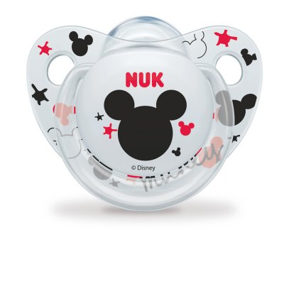 Lot de 2 sucettes silicone taille 2 mickey Nuk