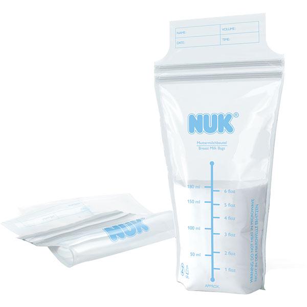 Lot de 25 sachets de conservation pour lait maternel Nuk
