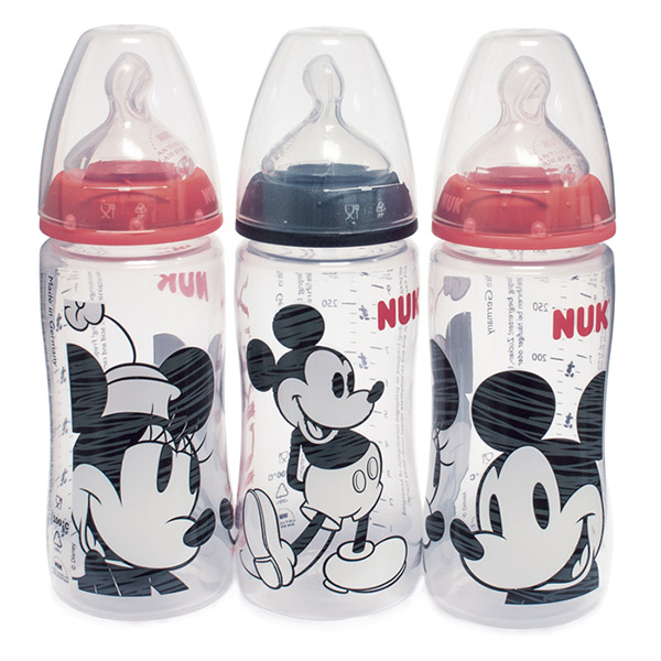 Lot de 3 biberons sans bpa mickey 300ml Nuk