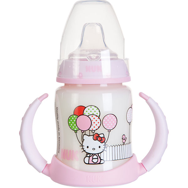 Biberon sans bpa d'apprentissage hello kitty 150ml Nuk