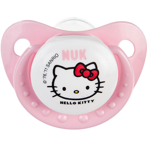 Lot de 2 sucettes bébé silicone hello kitty t3 Nuk