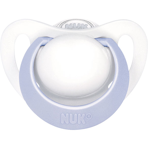 Sucette bébé silicone genius taille 1 bleu Nuk