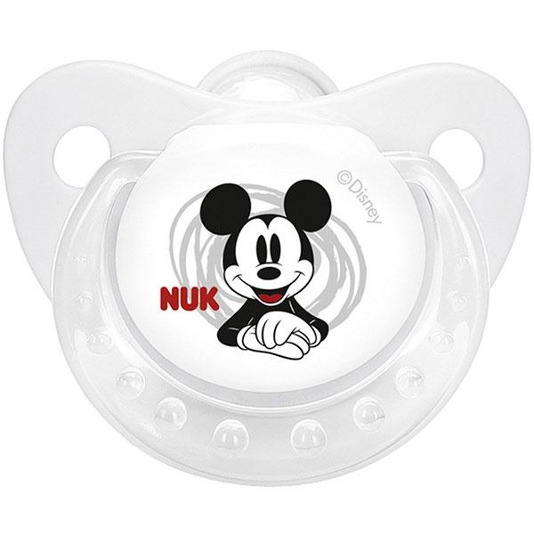 Lot de 2 sucettes bébé silicone mickey t2 Nuk