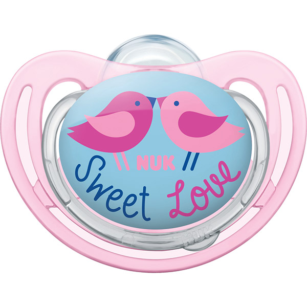 Sucette silicone taille 2 freestyle oiseaux fille Nuk