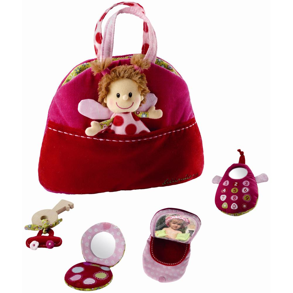 jouet d 39 veil b b sac main r versible liz 10 sur allob b. Black Bedroom Furniture Sets. Home Design Ideas