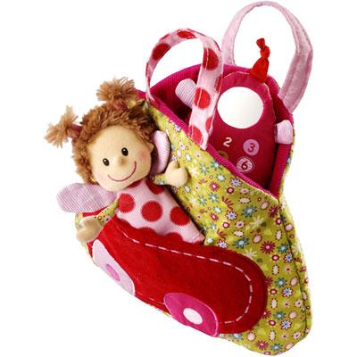 Jouet d'éveil bébé sac à main réversible liz Lilliputiens