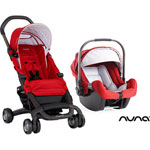 Poussette duo pepp + coque pipa rouge pas cher