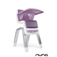 Chaise haute bébé zaaz évolutive prune