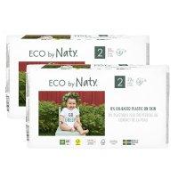 Lot de 2 paquets de couches écologiques jetables taille 2 3-6kg