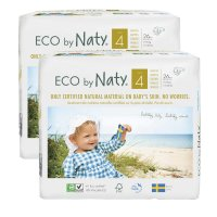 Lot de 2 paquets de couches écologiques jetables taille 4 7-18kg
