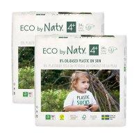 Lot de 2 paquets de couches écologiques jetables taille 4+ 9-20kg