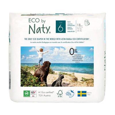1 paquet de 18 culottes d'apprentissage écologiques jetables taille 6 Naty