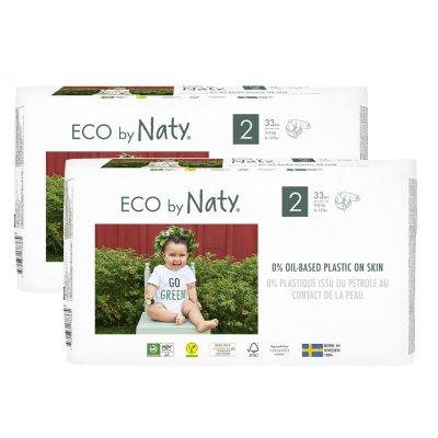 Lot de 2 paquets de couches écologiques jetables taille 2 3-6kg Naty