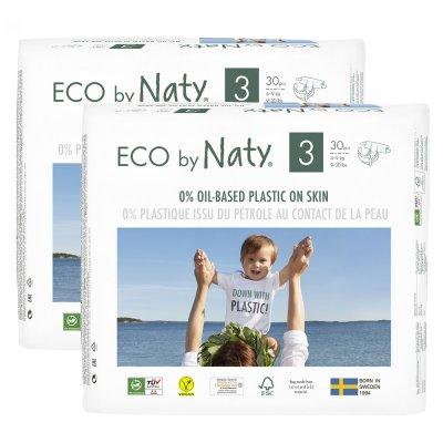 Lot de 2 paquets de couches écologiques jetables taille 3 4-9kg Naty