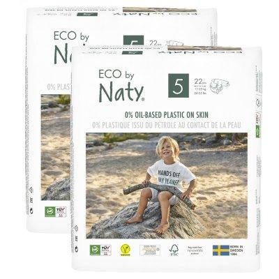 Lot de 2 paquets de couches écologiques jetables taille 5 11-25kg Naty