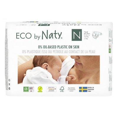 Couches écologiques jetables new born taille 0 (moins de 4.5kg) Naty