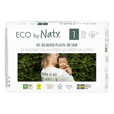 Couches écologiques jetables taille 1 2-5kg Naty