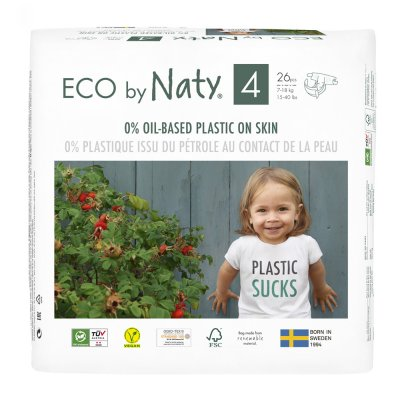 Couches écologiques jetables taille 4 7-18kg Naty