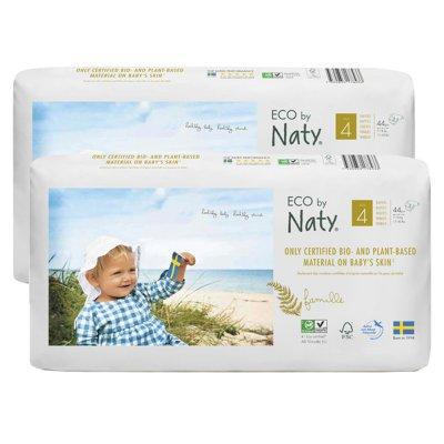 Lot de 2 paquets de 44 couches écologiques jetables taille 4 Naty