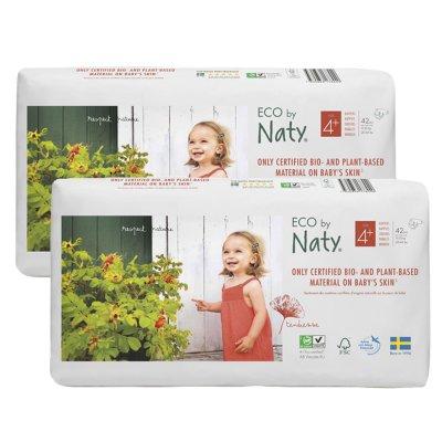 Lot de 2 paquets de 42 couches écologiques jetables taille 4+ Naty