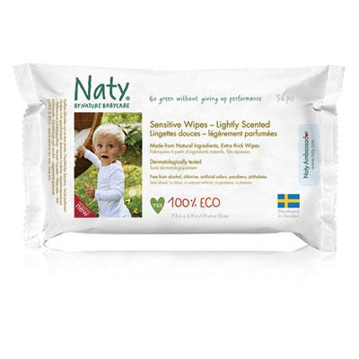 Lingettes bébé douces eco légèrement parfumées - 56 pièces Naty