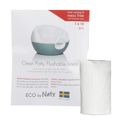 Sacs biodégradables pour pot potty (3 rouleaux de 10 sacs) Naty
