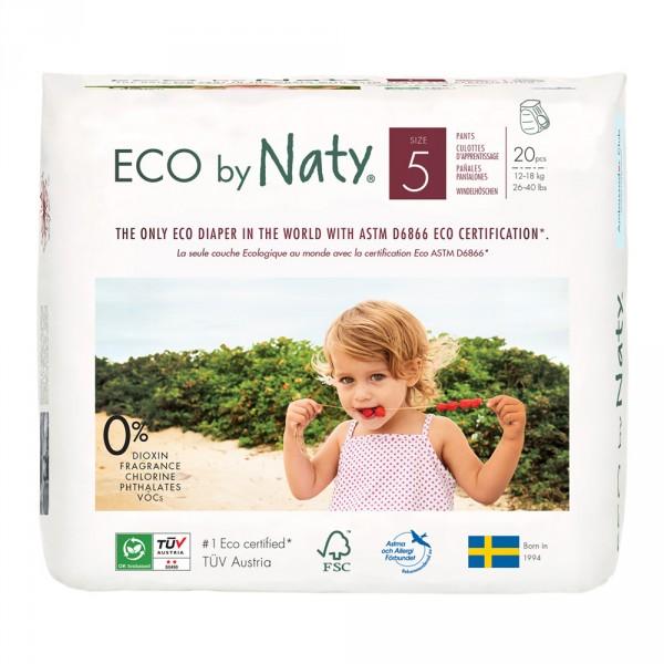 Culottes d'apprentissage écologiques jetables taille 5 Naty