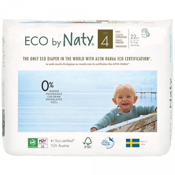1 paquet de 22 culottes d'apprentissage écologiques jetables taille 4 Naty