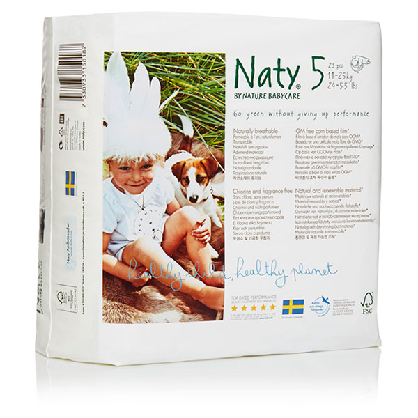 Couches écologiques jetables junior taille 5 11-25kg Naty