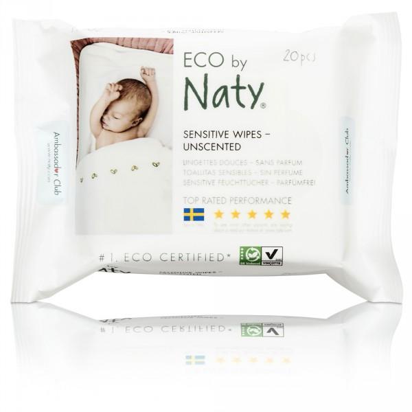 Lingettes bébé douces éco sans parfum - 56 pièces Naty