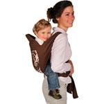 Porte bébé écharpe de portage chocolat pas cher