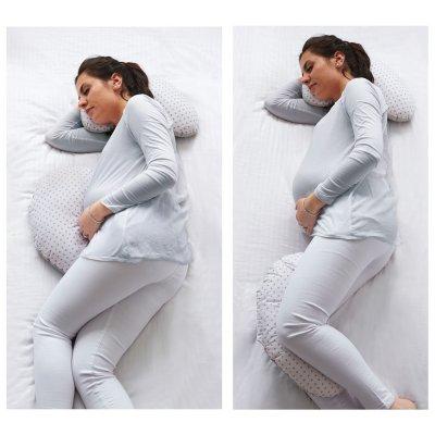 Coussin de sommeil multifonction gris/etoiles Tineo